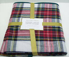"Williams Sonoma Holiday Stewart Tartan Plaid Dinner Tablecloth 70"" X 108"" New"