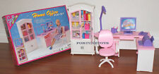GLORIA DOLLHOUSE SIZE FURNITURE Home Style Office W/ Printer PLAY SET FOR BARBIE