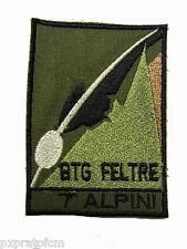 Patch Esercito Italiano 7° Alpini Btg. Feltre per Mimetica Vegetata Militare