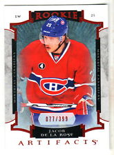 2015-16 UD Artifacts RUBY RED #176 JACOB De La ROSE RC 77/399 Montreal Canadiens