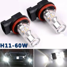 2x 60W H8 H11 Super LED Nebelscheinwerfer Lampe Scheinwerfer Tagfahrlicht Birne