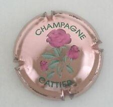 capsule champagne CATTIER grandes fleurs n°11 rosé roses foncées