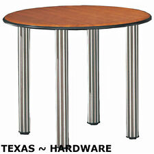 4 Pieces Metal Stainless Steel Legs Furniture Table Cabinet Feet 12""
