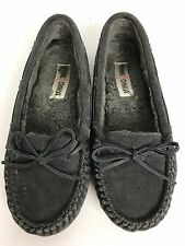 Minnetonka Charcoal Gray Slipper Moccasin Size 8