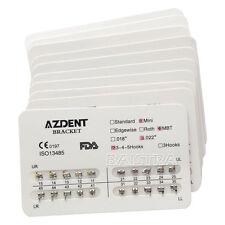 10BAGS NEW Dental Orthodontic Brackets Brace Mini MBT 022 3-4-5Hooks AZDENT