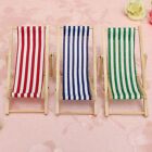 New Dolls House 1:12 Miniature Foldable Wooden Deckchair Lounge Beach Chair Toy
