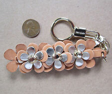 $65 NWD kate spade Keyring fob Leather Flowers