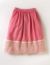 NEW Boden Pink Embroidered A Line Emily Skirt Size 8 US