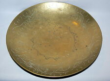 "VINTAGE CHINESE BOWL PLATEDRAGON AND CHINESE CHARACTERS THEME 12 "" ACROSS"