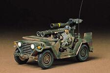 Tamiya - 1:35 Kit plástico modelo M151A2 de EE. UU. con Kit de lanzador de remolque-CA22 - #35125