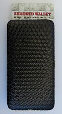 v BLACK WEAVE DELUXE RFID security ARMORED flat WALLET vegan leather Armor