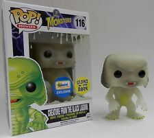 FUNKO POP GLOW CREATURE BLACK LAGOON w/ GLOW SPLATTER BOX EXCLUSIVE VINYL FIGURE