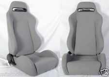 NEW 2 GRAY CLOTH RACING SEATS RECLINABLE w/ SLIDER ALL TOYOTA **