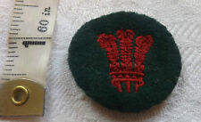 An Original Military North Wales Regiment Districts Formation Cloth Badge (441)