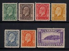 CANADA #195-201 set of 7 - MH