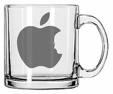 Steve Jobs RIP Apple Logo Glass Mug 11oz.
