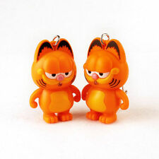 3D cartoon Garfield Light Up LED Torch With sound Keyrings KeyChain toys USYS156
