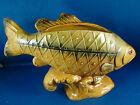 """Fish Planter Ceramic Glazed Vintage Norcrest E36 Original Sticker Rare 9.5"""" #H"""