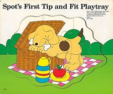 Spot's first tip and fit play tray puzzle