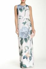NWT Ted Baker London Racha Lilac Distinguishing Rose Maxi Dress 3 (US 8) $475
