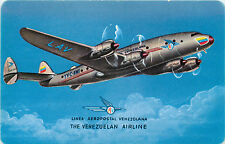 LINEA AEROPOSTAL VENEZOLANA / LAV - Rare Postcard Sized Advertising Card, c 1950