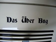 DAS UBER Bug Adesivo Decalcomania Per Vw / Volkswagen Beetle Bus