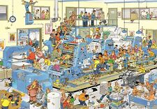 NEW! Jumbo The Printing Office by Jan van Haasteren 1500 piece comic jigsaw