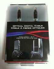 Sony Genuine OEM PlayStation PS2 PS3 Optical Digital Audio Cable 10FT - NEW