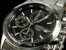 SEIKO SND367 SND367P Chronograph Tachymeter Black 100m New Men's Watch Japan