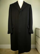 Aquascutum Coat Cashmere England UK made Black Excellent Condition!