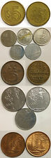 FOREIGN COIN LOT/14: ISRAEL,NETHERLANDS,SINGAPORE,HONG KONG,MEXICO,FRANCE,ITALY
