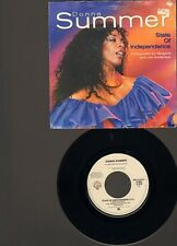"""DONNA SUMMER State Of Independence 7"""" SINGLE Love Is Just A Breath Away 1982"""