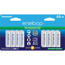 Panasonic Eneloop AA 16 Pre-Charged up to 2000mAH, 2100X Rechargeable Batteries