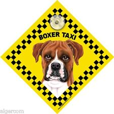 BOXER TAXI  Uncropped Waterproof Laminated Glass Window Car Truck RV Sign NEW