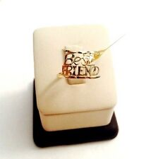 10k Solid Yellow Gold BEST FRIEND Ring. size: 6.5 weight: 1.4