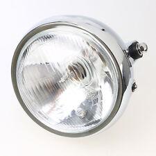 "Universal 6"" Round Motorcycle Side Bulb Motorbike Crystal Headlight Headlamp"