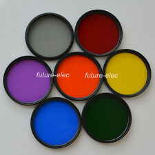 77 77mm Full Color Colour Red Purple Green Orange Yellow Blue Grey Lenses Filter