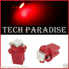 6x Ampoule B8.3D BX8.3D BAX10S ( T5 sur culot ) LED SMD Rouge Red Neo Wedge