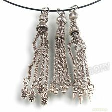 12pcs Mixed Chains Charms Antique Silver Pendants Jewellery Making Findings JJ