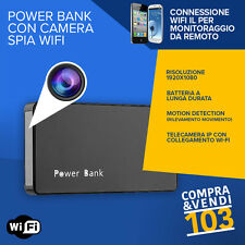 Power Bank Spia Camera Spy Wifi Nascosta Cimice Professionale full hd Segreta