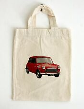 Small Cotton Bag - Austin Seven Mini Car Motif, Party or Gift Bags
