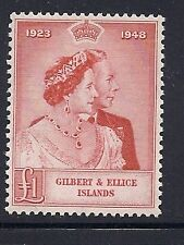GILBERT and ELLICE 1949 Silver Wedding VF MH (high value only)