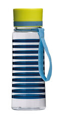 Stylish Mimo Hydration Gym Sports Drinks Water Bottle, Navy Stripe, 650ml