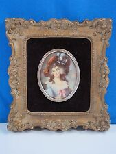 VINTAGE CAMEO CREATION VICTORIAN LADY  PORTRAIT PICTURE Wall Placque