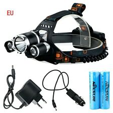 6000Lm CREE XM-L T6 + 2R5 LED Rechargeable Headlamp Headlight Head Torch EU PLUG