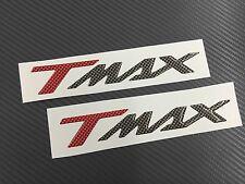 Coppia Adesivi 3D resinati Tmax T Max CARBONIO ROSSO & ROSSO