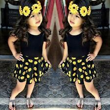 Infant Kid Baby Girl Party Dress Outfit Tops T-Shirt+Tutu Skirt 2PCS Set Clothes