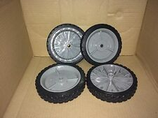 "CRAFTSMAN 7"" WALK BEHIND PUSH LAWN MOWER WHEELS SET OF 4 FITS MOST TYPE MOWERS"