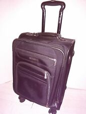 """REVO TWIST LUGGAGE 22"""" BLACK EXPANDABLE SPINNER CARRY ON SUITCASE"""