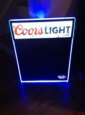 Coors Light Beer Menu Chalkboard Lighted LED Motion Sign Dry Erase New In Box!